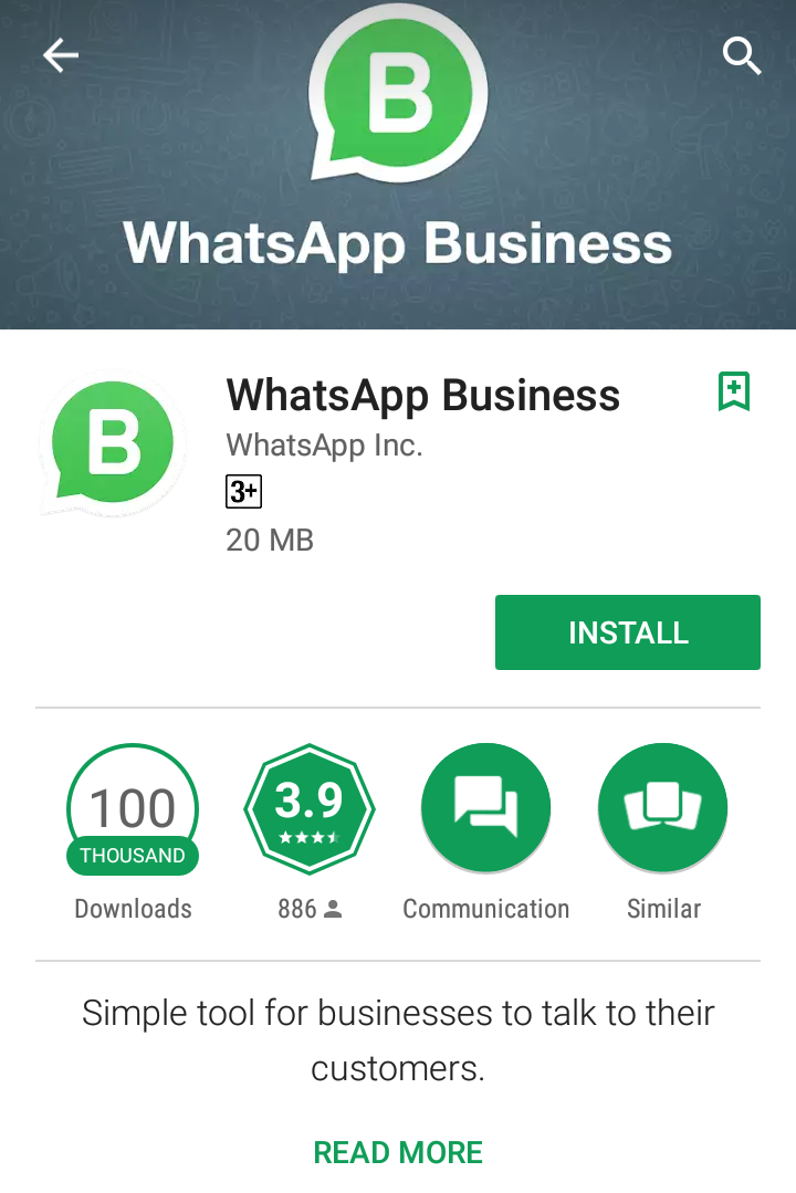 Testimonials New Release WhatsApp Business Google Play